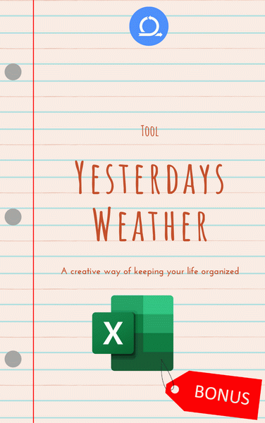 XLSX Yesterday's weather Tool