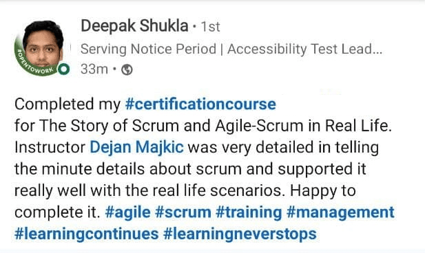 Agile and Scrum learner