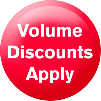 Volume discount available for all products